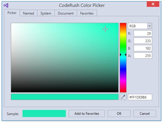 CodeRushColorPicker