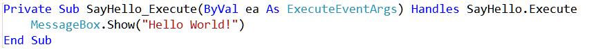 CodeVBActionSayHello