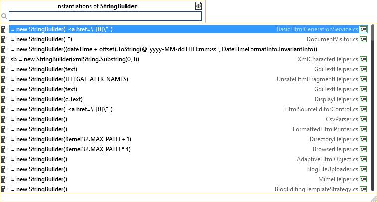 InstantiationsOfStringBuilder