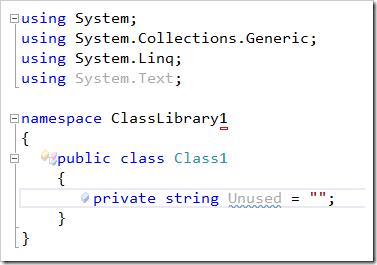 SimpleClassLibraryWithUnusedDeclaration