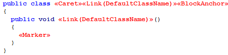 TemplateClassLink