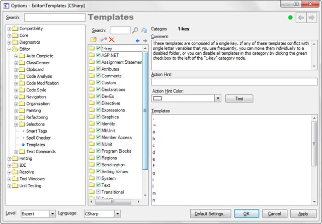 TemplatesOptionsPageCSharp