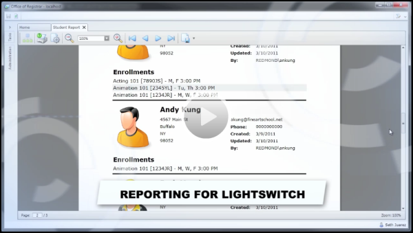 LightSwitch Reporting Features