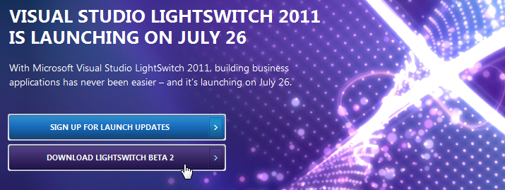 Visual Studio LightSwitch download