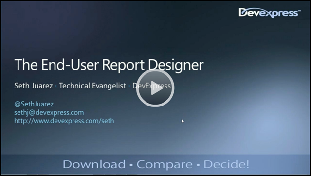 End-User Report Designer Webinar