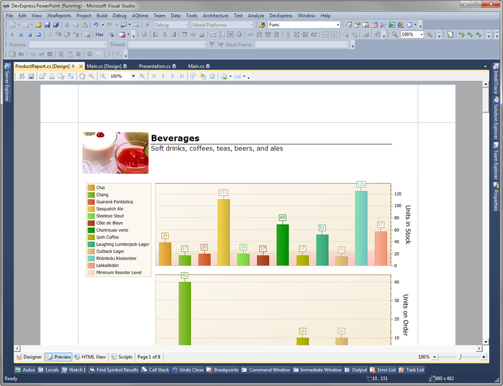 exporting reports to powerpoint