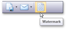 The Watermark button in the Document Preview for WPF and Silverlight