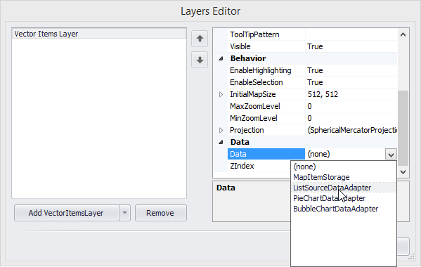 Vector Items Layer Data Property
