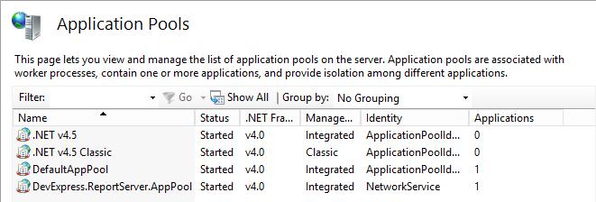 App Pool Identity