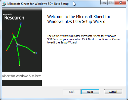Kinect SDK Install