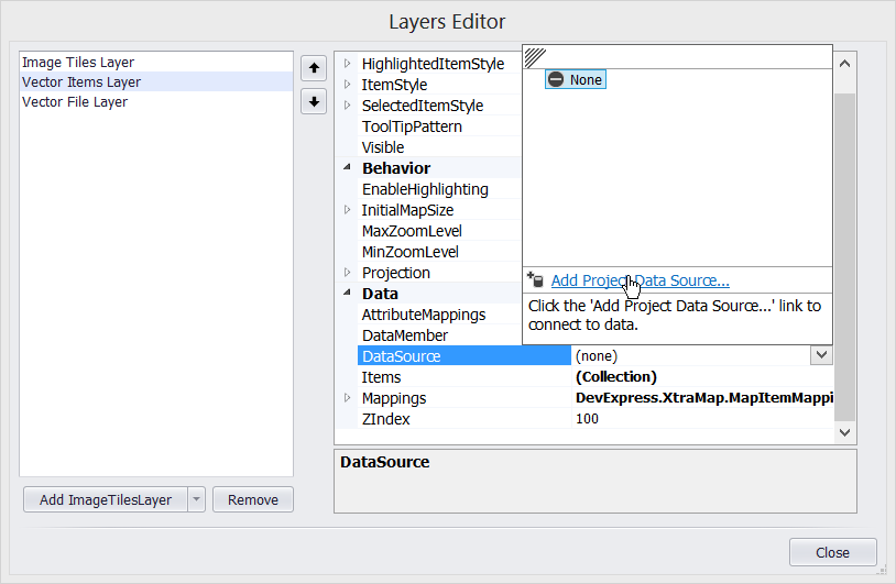 WinForms Map Control Layers