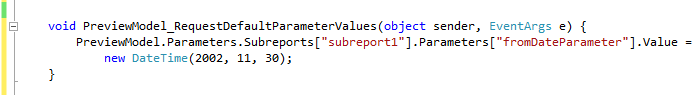 the previous approach to access a subreport's parameters