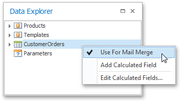 Setting Mail Merge