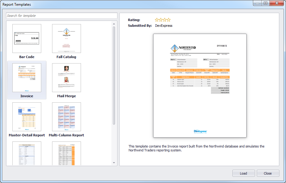 Custom Report Templates – Using In-House Templates - DevExpress Data ...