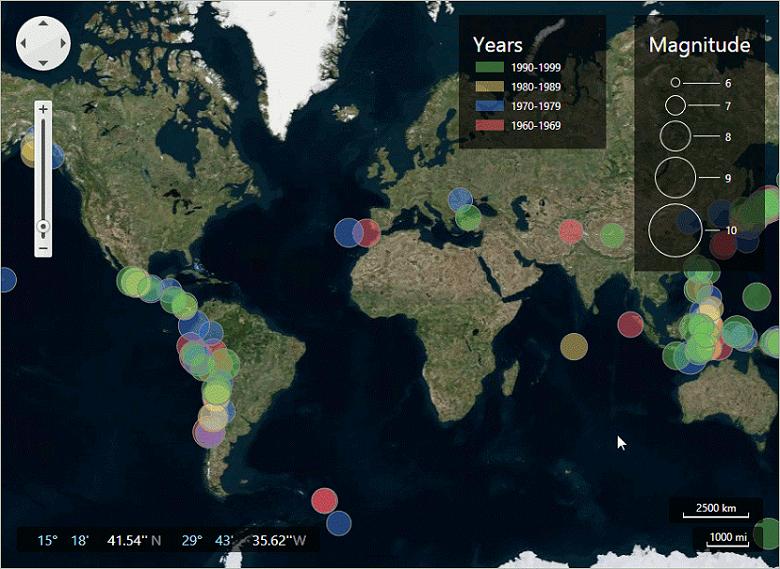 WPF Map Analytics