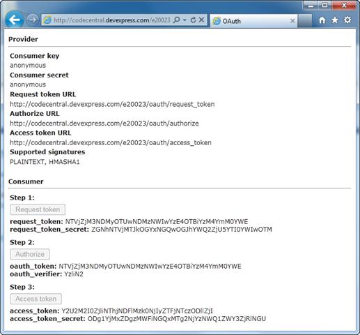 OAuth 1.0 Service Provider