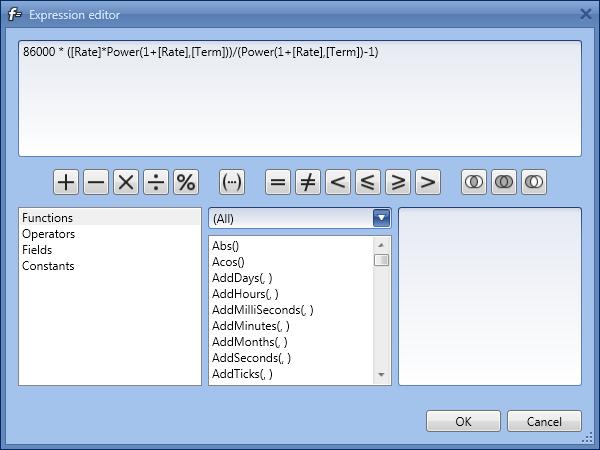 WPF Pivot Grid - Unbound Expression Editor