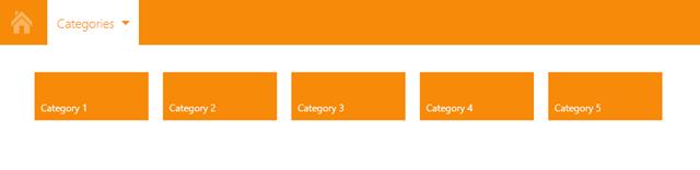 DevExpress WPF Tile Navigation Menu