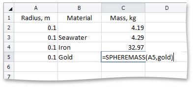 Spreadsheet Control - Custom Function