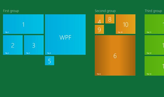 DevExpress WPF Tile Control