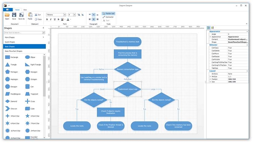 WinForms Diagram Control - Designer