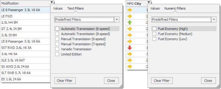 WinForms TreeList Filtering