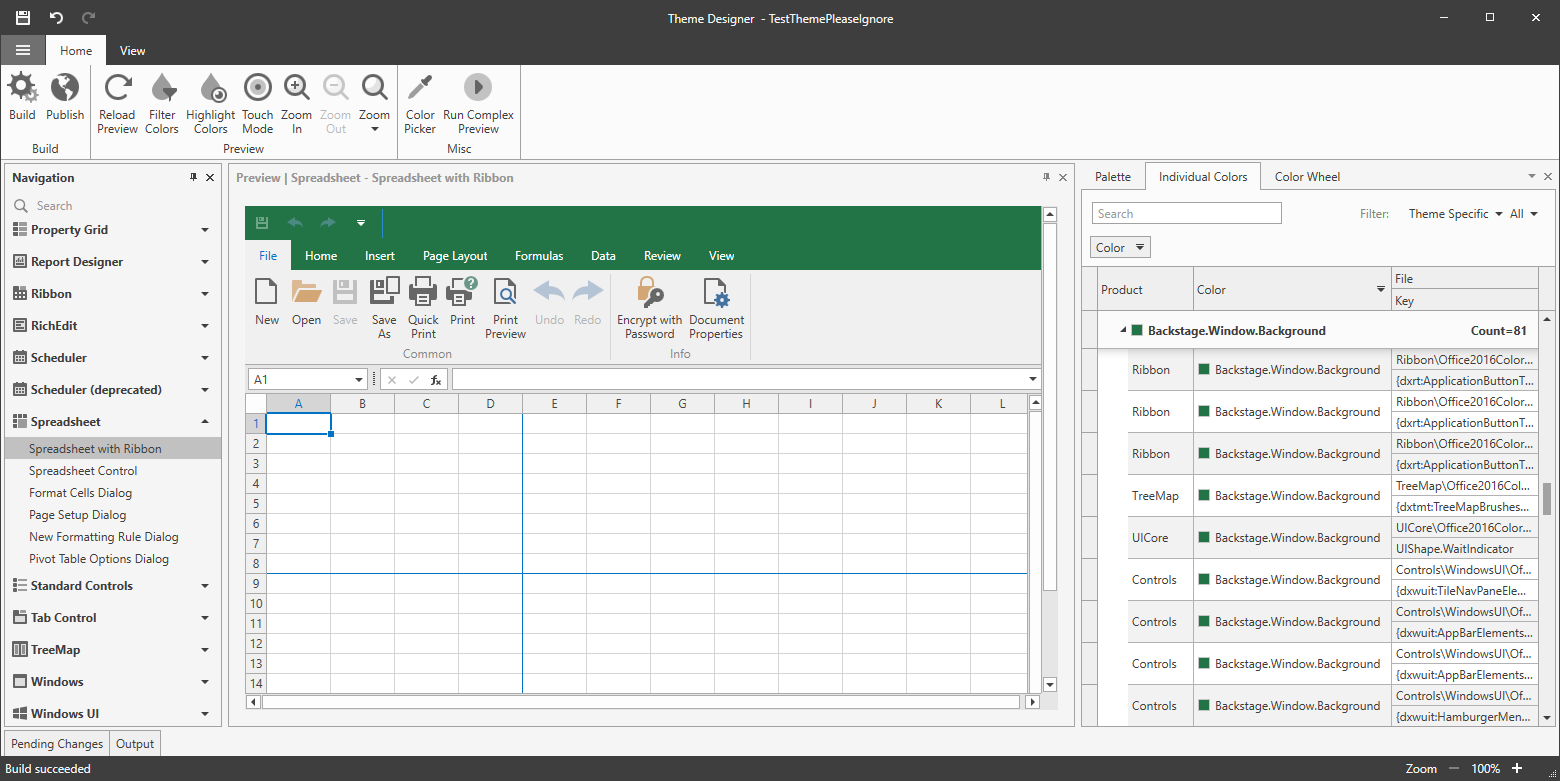 WPF Theme Designer: Excel Green Color
