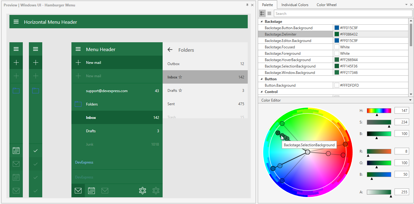 WPF Theme Designer: Shades of Green