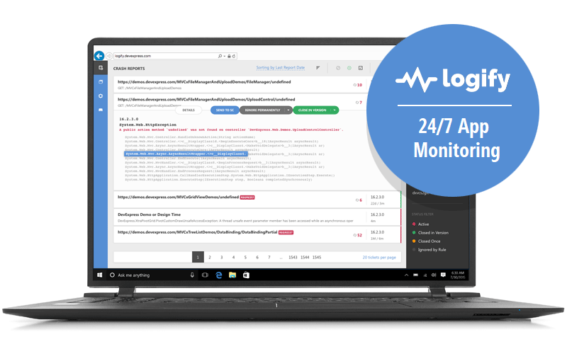 Logify - 24/7 Application Monitoring Service