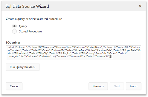 ASP.NET SQL Data Source Wizard