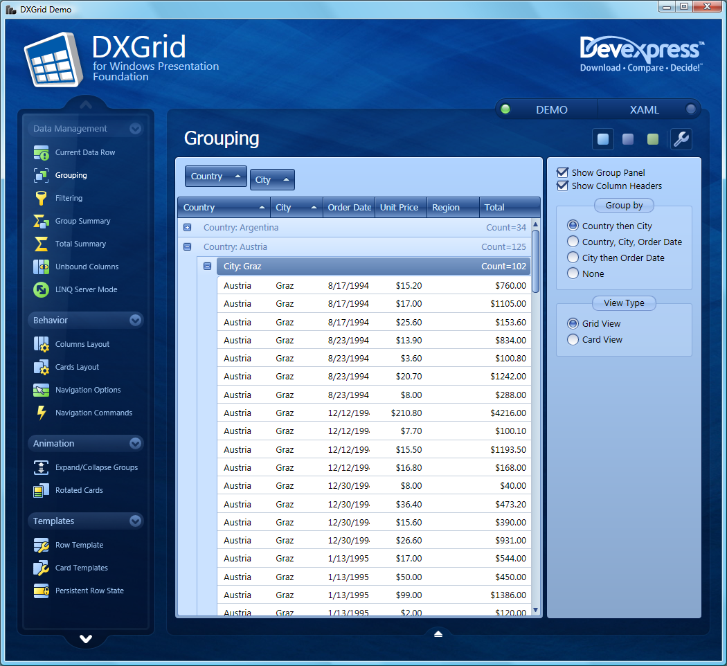 DXGrid for WPF