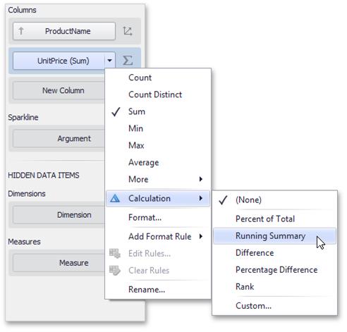 DevExpress Dashboard for .NET - Built-in Calculations