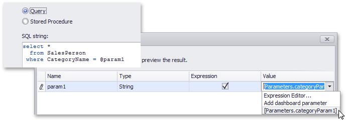 DevExpress Dashboard for .NET - Query Parameters