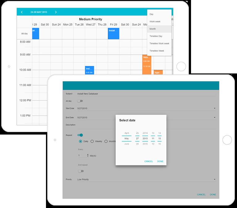 HTML5 - JavaScript Calendar for Mobile Devices
