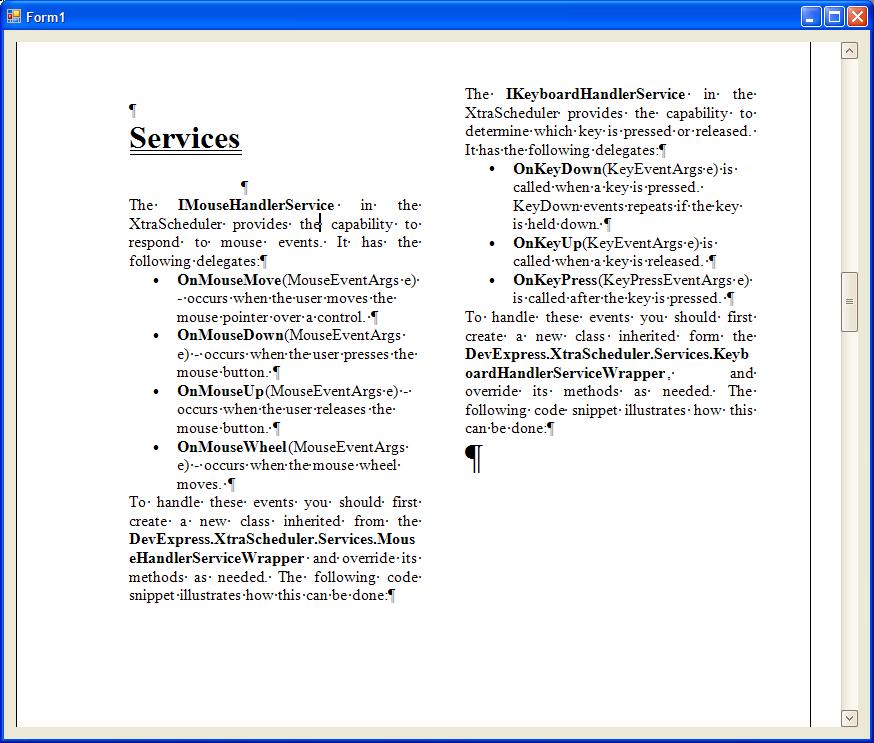 RichText Control (RTF) by DevExpress