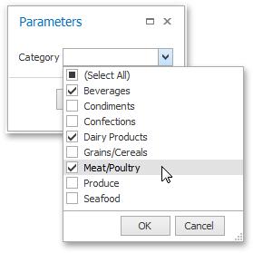 WinForms - Multi-Value Parameters