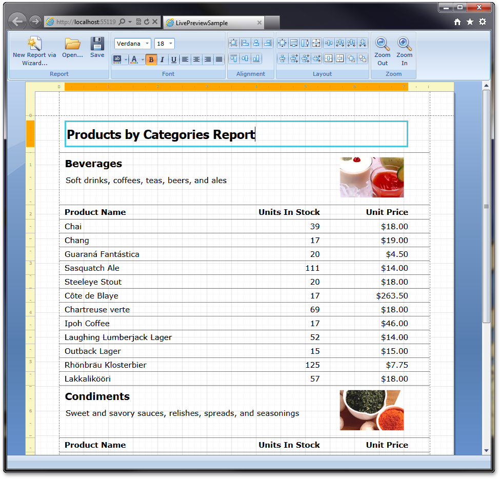 Silverlight Report Designer and End-User Report Wizard (coming in