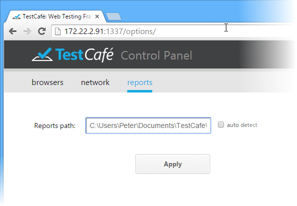 Automated Web Testing - TestCafe Control Panel