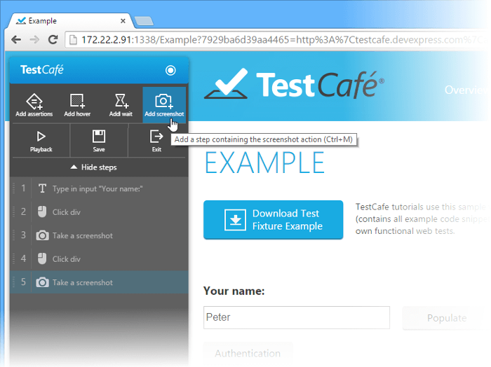 Automated Web Application Testing - How to Capture a Screenshot During a Test