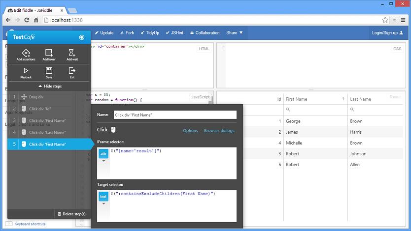 TestCafe HTML5 Web Testing Cross Domain IFrame