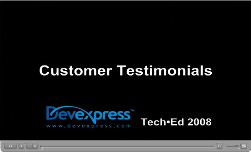 DevExpress Customer Testimonials