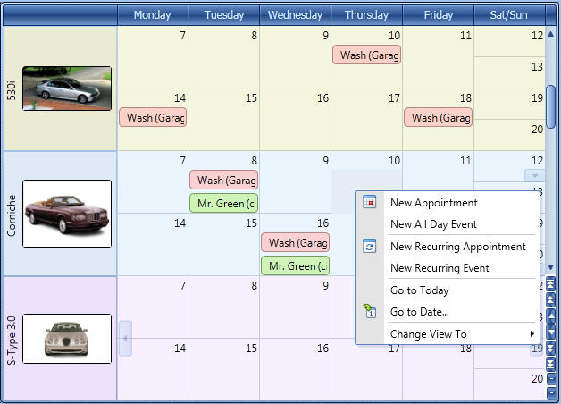 WPF Month View - Scheduler Control