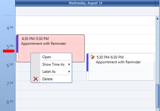 WPF Reminders - Scheduler Control