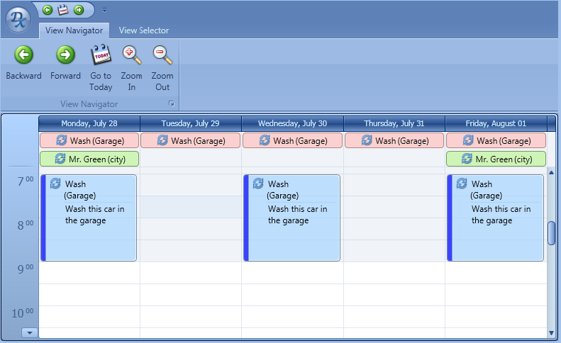 WPF Work Week - Scheduler Control