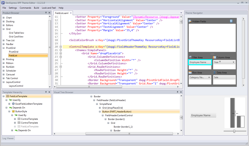 WPF Theme Editor XAML