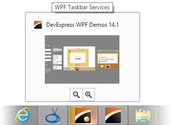 WPF Taskbar Services