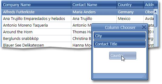 WPF Grid Column Chooser