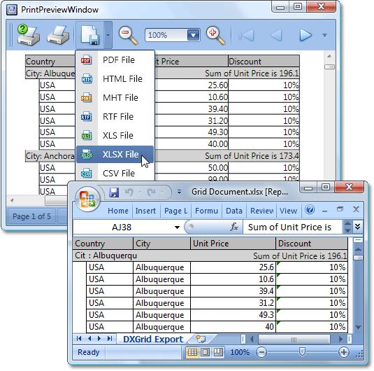 WPF Grid Data Export