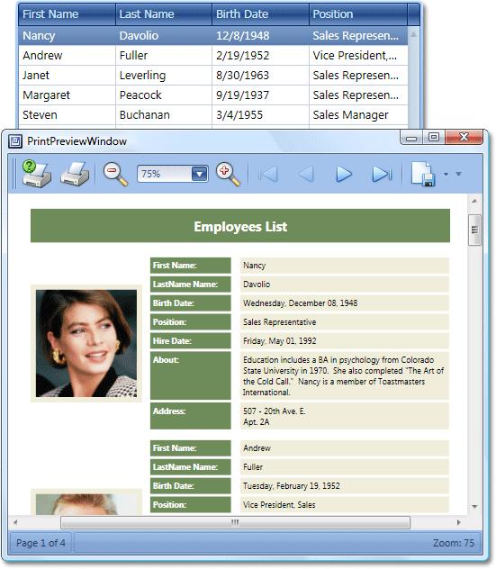 WPF Grid Report Customization
