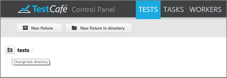 Web Functional Testing - Choosing a Test Directory